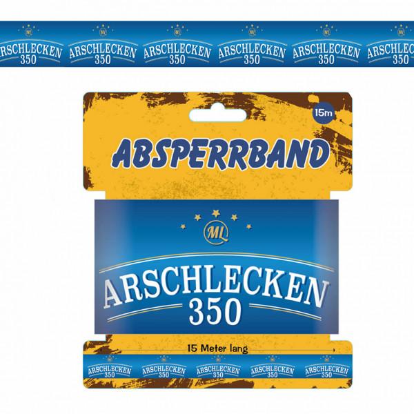 Absperrband Arschlecken 350, Kunststoff, 15 m lang