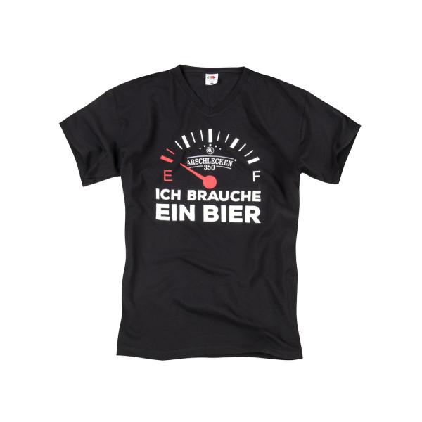 T Shirt Ich brauche ein Bier Größe XXL