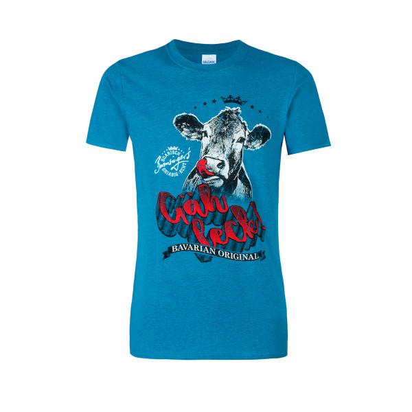 T-Shirt Gäh leck Bayerisch Original blau
