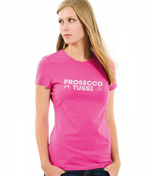 T-Shirt Prosecco Tussi 100 Baumwolle Lady