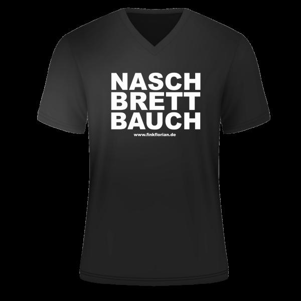 T-Shirt Naschbrettbauch V-Neck