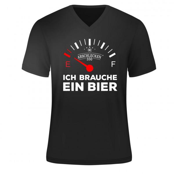 T Shirt Ich brauche ein Bier Größe L