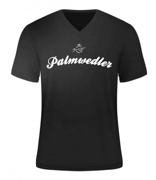 T-Shirt Palmwedler schwarz V-Neck