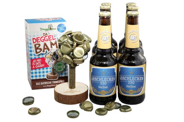 Deggelbam Arschlecken 350 & 6 Flaschen á 0,33l Arschlecken 350 Helles Bier