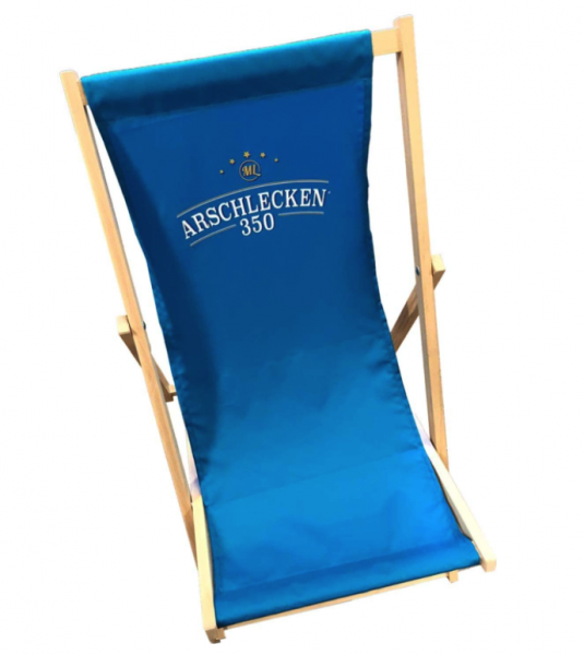 Arschlecken 350 Liegestuhl Relaxstuhl, faltbar, Länge 119 cm, belastbar bis 120 kg, Buchenholz