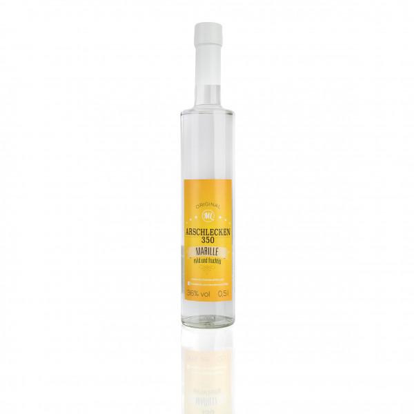 Arschlecken350 Schnaps 0,5 Liter Marille 36 % Vol.