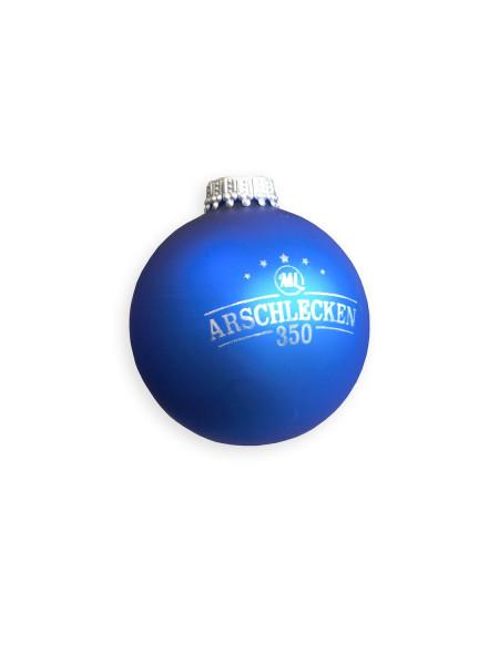 Weihnachtskugel Arschlecken 350, blau, Glas, ø 66mm