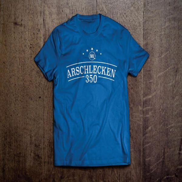 T-Shirt Arschlecken 350, royalblau M