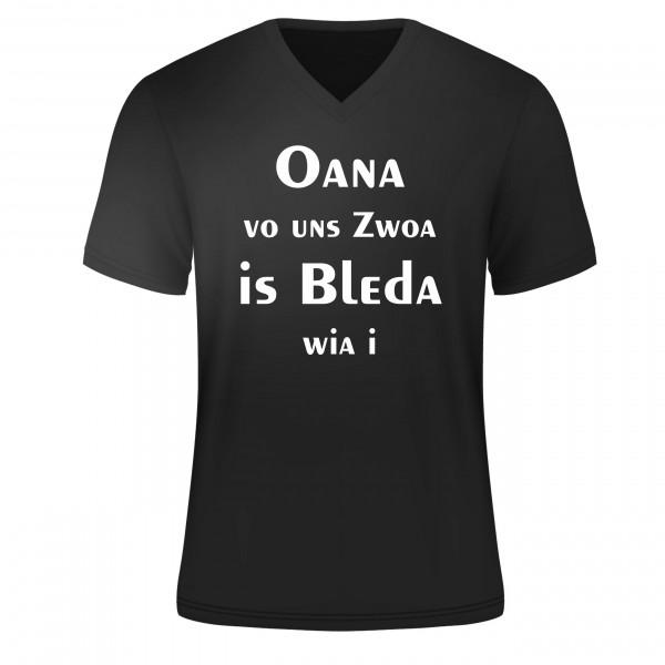 T Shirt Oana vo uns zwoa, schwarz