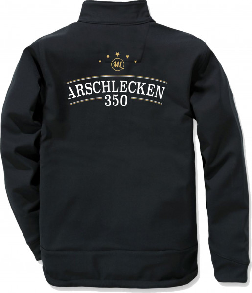 AL350 Softshell Jacke, schwarz, windresistent, wasserabweisend