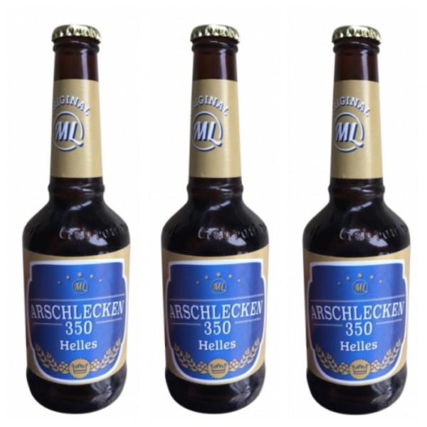 Bierprügel Arschlecken350 & 3 Flaschen Bier Arschlecken 350