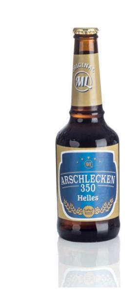 Arschlecken 350 Bier Helles 0,33 Liter Flasche inclusive Pfand