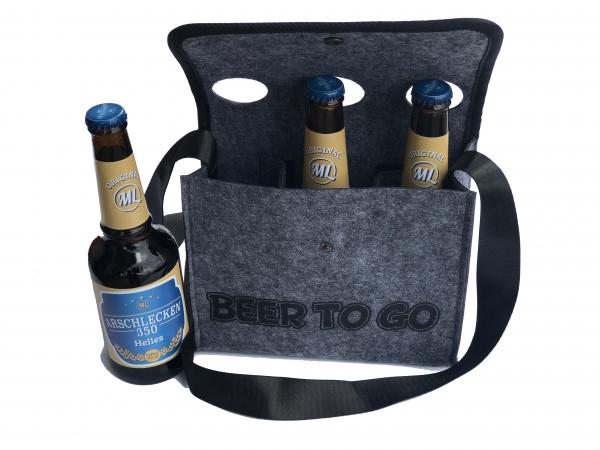 """""""Bier to Go"""" Umhängetasche mit 3 Arschlecken 350 Bier Helles"""