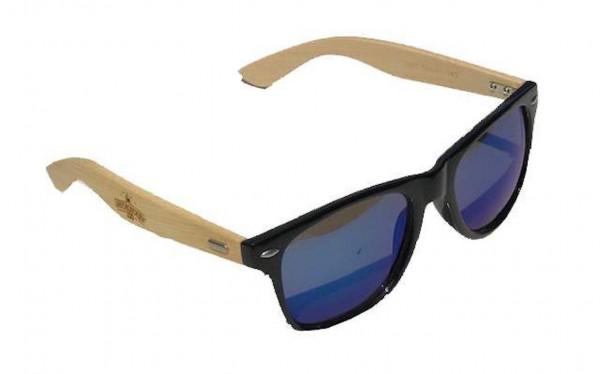 Arschlecken 350 blaue Sonnenbrille, unisex, Bambusbügel