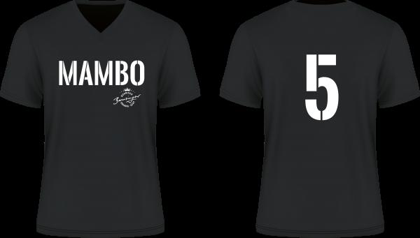 T Shirt Mambo Nr5 schwarz V Neck