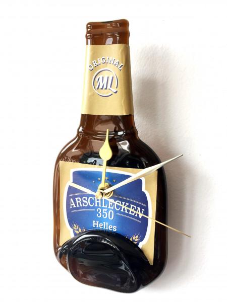 Wanduhr Flasche Arschlecken 350 Bier