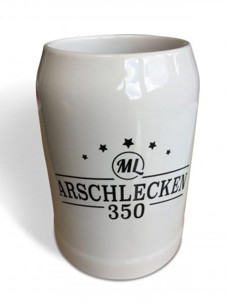 Bierkrug 0,5 Liter - Version: Arschlecken 350