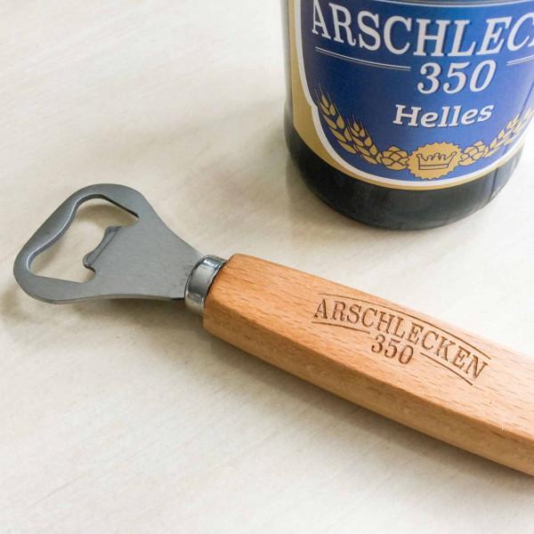 Flaschenöffner Arschlecken350 Holz/Metall