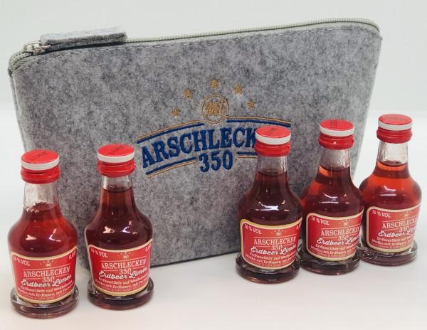 Filztasche Beauty & 5 x AL350 Erdbeerlimes Mini