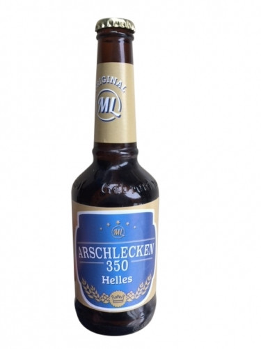 Arschlecken 350 Bier Helles 0,33 Liter Flasche inclusive Pfand 20-er Pack