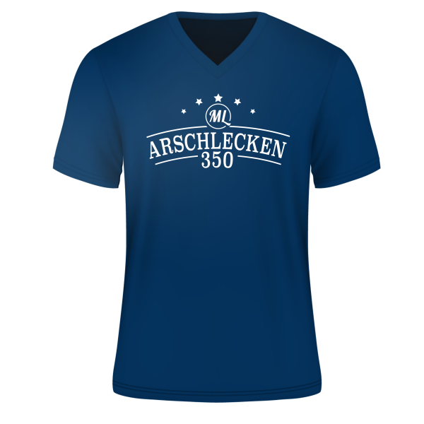 T-Shirt Arschlecken 350, royalblau