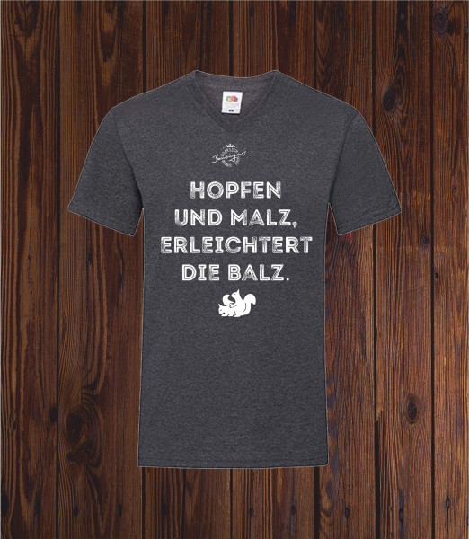 T Shirt Hopfen und Malz in dunkelgrau Größe S