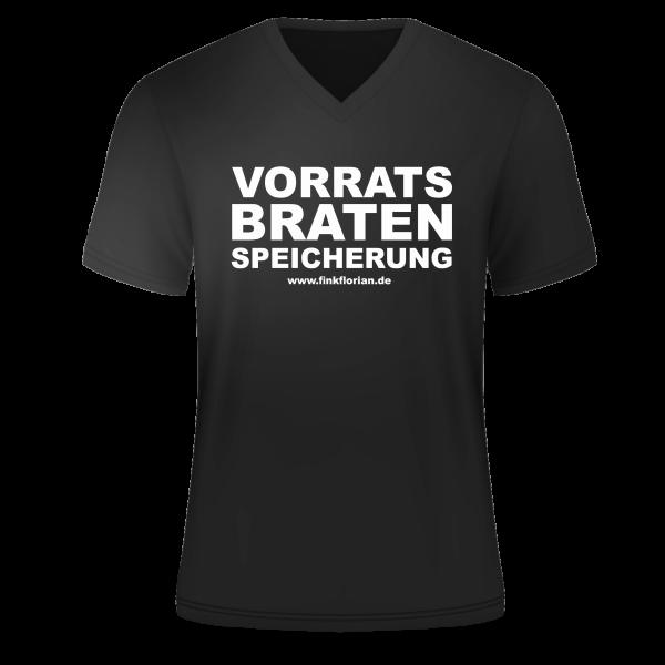 T-Shirt Vorratsbratenspeicherung schwarz