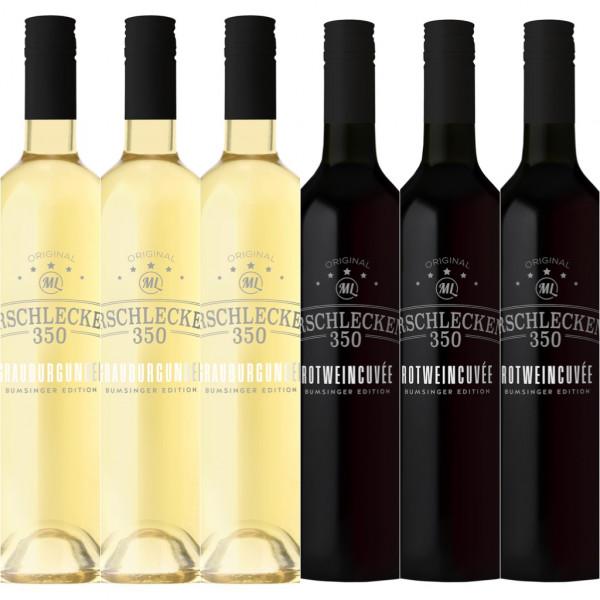 Weinpaket Rotweincuvée & Grauburgunder je 0,75l 6er Set Arschlecken 350