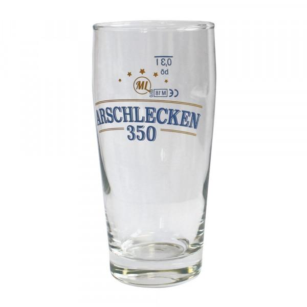 Bierglas Willibecher 0,3 Liter Arschlecken350