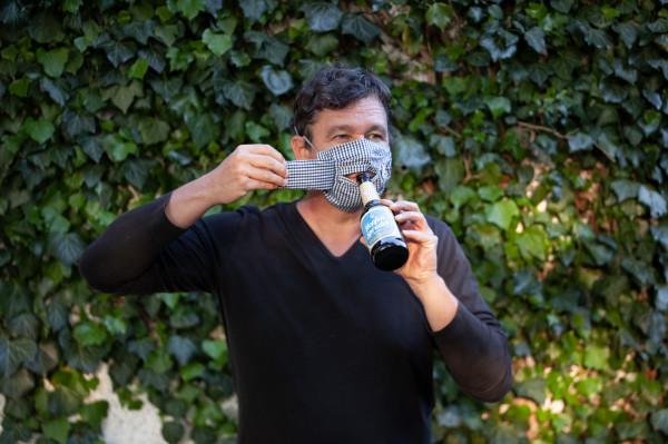 Mund-Nasen-Maske Behelfsmaske mit Mundklappe, 100% Baumwolle, verschiedene Versionen