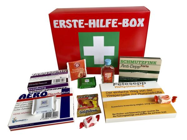 Erste Hilfe Box Scherzartikel Notfall Sanikasten