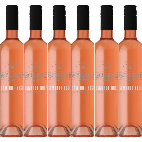 Arschlecken 350 Samt Rosé feinherb 0,75l 6er Set