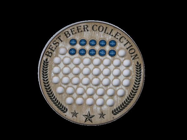 Holz-Kronkorkensammler, Best Beer Collection
