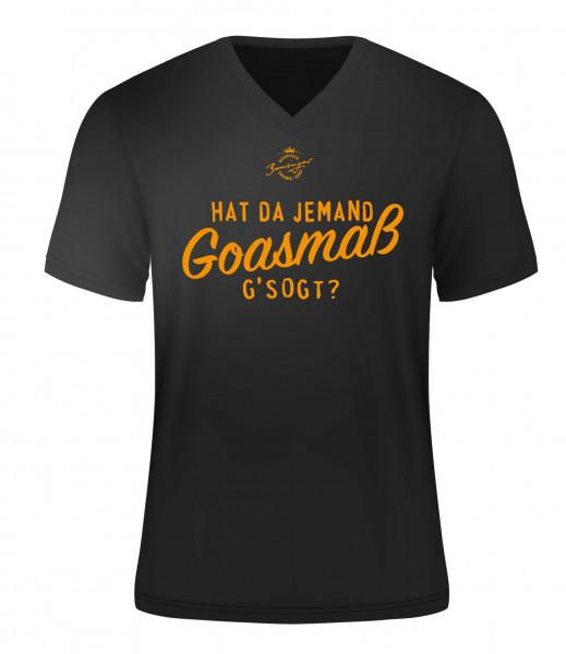 T-Shirt Hat da jemand Goasmaß gsogt schwarz