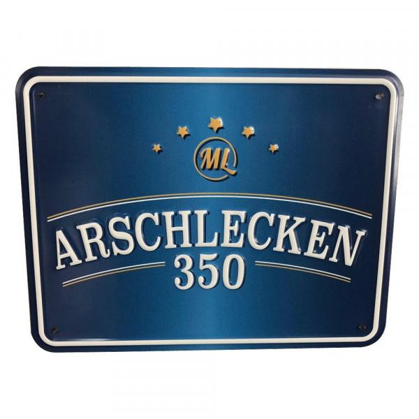Blechschild Arschlecken 350 21,5 x 17 cm