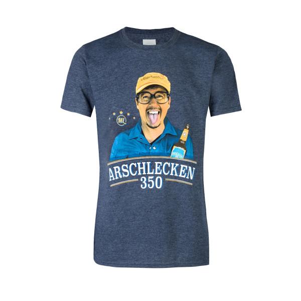T Shirt Arschlecken350, Sepp Bumsinger Motiv
