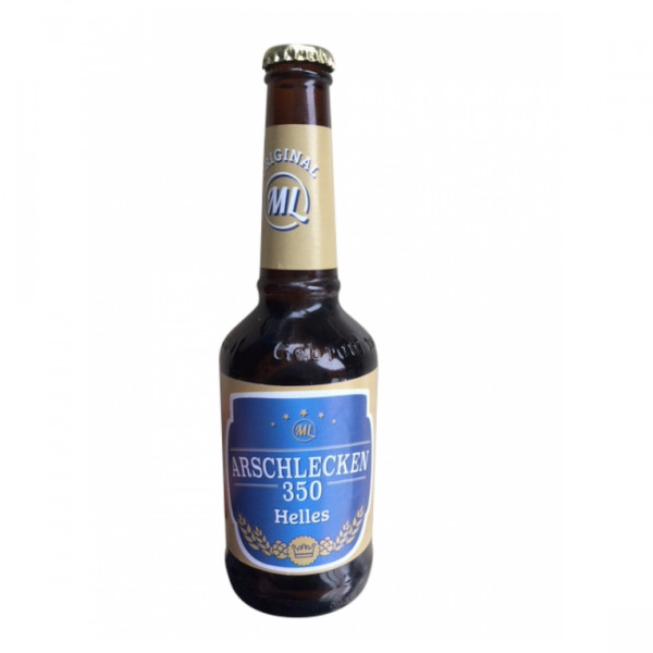 Arschlecken 350 Bier Helles 0,33 Liter Flasche incl. Pfand, 24-er Pack